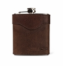 White Wing Leather Flask