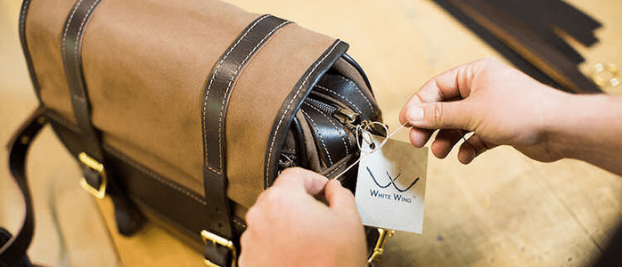 White Wing Monogrammed Bags, Duffels and Leather Goods