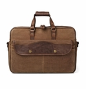 White Wing Waxed Canvas Briefcase