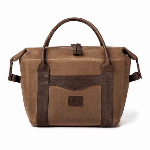 White Wing Waxed Canvas & Leather Leak-Proof Cooler
