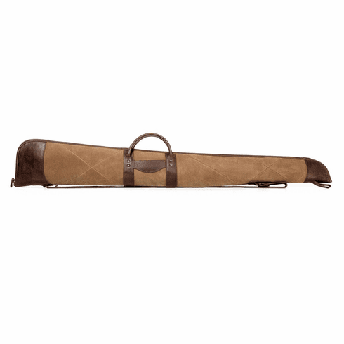White Wing Waxed Canvas & Leather Shotgun Case