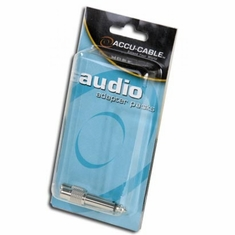 "ACCU-CABLE ACQMRCAF  MALE 1/4"" TO FEMALE RCA (2)"