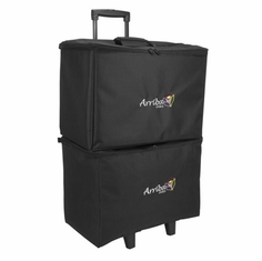 ARRIBA-ACR19 - Multi-purpose stackable rolling case, Bottom rolling case with wheels. (ARRIBA-ACR19)