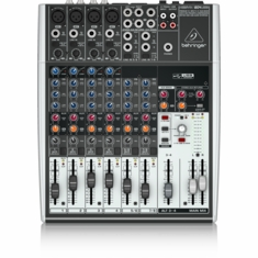 BEHRINGER 1204USB Premium 12-Input 2/2-Bus Mixer with XENYX Mic Preamps & Compressors, British EQs and USB/Audio Interface