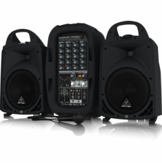 BEHRINGER PPA500BT Ultra-Compact 500-Watt 6-Channel Portable PA System with Bluetooth Wireless Technology, Wireless Microphone Option, KLARK TEKNIK Multi-FX Processor and FBQ Feedback Detection