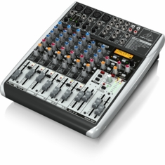 BEHRINGER QX1204USB Premium 12-Input 2/2-Bus Mixer with XENYX Mic Preamps & Compressors