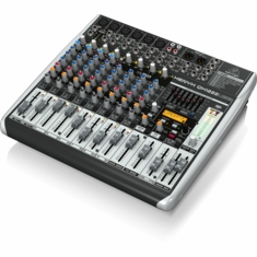 BEHRINGER QX1222USB Premium 16-Input 2/2-Bus Mixer with XENYX Mic Preamps & Compressors,