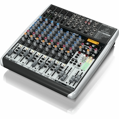 BEHRINGER QX1622USB Premium 16-Input 2/2-Bus Mixer with XENYX Mic Preamps & Compressors