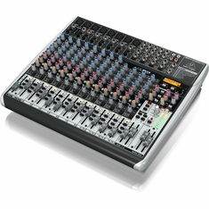 BEHRINGER QX2222USB Premium 22-Input 2/2-Bus Mixer with XENYX Mic Preamps & Compressors
