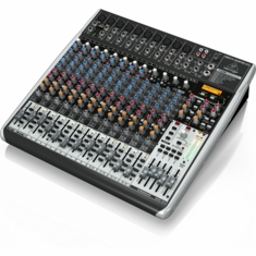 BEHRINGER QX2442USB Premium 24-Input 4/2-Bus Mixer with XENYX Mic Preamps & Compressors
