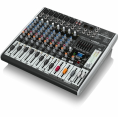 BEHRINGER X1222USB Premium 16-Input 2/2-Bus Mixer with XENYX Mic Preamps & Compressors