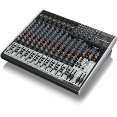 BEHRINGER X2222USB Premium 22-Input 2/2-Bus Mixer with XENYX Mic Preamps & Compressors