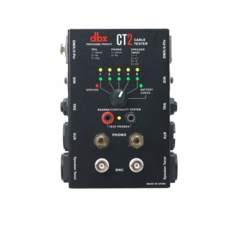 DBX CT2  Cable tester with many common connectors such as Speaker Twist, XLR, Phono, BNC, DIN, TRS, TS, DMX, & Banana