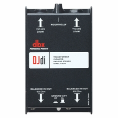 DBX DJDI  2-channel passive direct box that converts unbalanced signals into balanced output for use with mixers, PAs, recording consoles and more