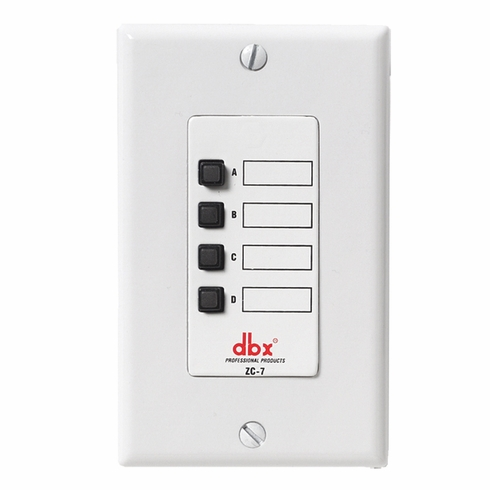 DBX ZC-8  ZC 7 Wall Mounted Mic Page Assignment Controller