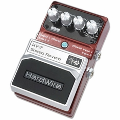 DIGITECH HARDWIRE RV-7 Stereo Reverb Performance Pedal