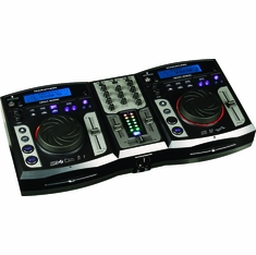 MARATHON DCM-5000 PROFESSIONAL CD SD USB MIX STATION WITH DIGITAL SCRATCH EFFECTS + FREE CARRYING CASE