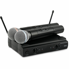 MARATHON MA-WM59 TWIN Dual Channel VHF Wireless Microphone