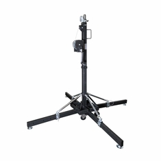ProDJ 15.7ft MEDIUM DUTY CRANK STAND W/OUTRIGGERS - MAX LOAD 330Lbs.