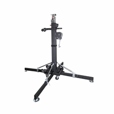 ProDJ 18ft HEAVY DUTY CRANK STAND W/OUTRIGGERS - MAX LOAD 440Lbs.