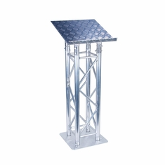 ProDJ F34 SQUARE TRUSS STYLE LECTERN WITH DIAMOND PLATE FINISH