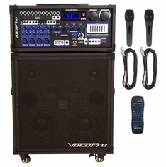 VOCOPRO CHAMPION-REC BASIC (HEAD + SPEAKER) 00W Multi-Format Portable P.A. System with Digital Recorder