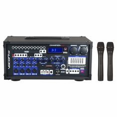 VOCOPRO CHAMPION-REC-H3 (HEAD ONLY) 200W Multi-Format Portable P.A. System with Digital Recorder / VHF Wireless Mic System