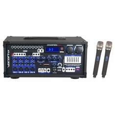 VOCOPRO CHAMPION-REC-H6 (HEAD ONLY) 200W Multi-Format Portable P.A. System with Digital Recorder/ UHF  Wireless Mic System