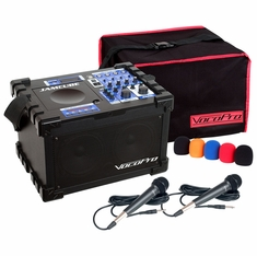 VOCOPRO JAMCUBE-MC (MK-7x2COVER,WS-5,CLOUD-30) 100W Stereo All-In-One Mini PA/ENTERTAINMENT PACKAGE
