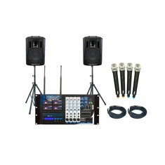 VOCOPRO PA-MANII PRO (PACKAGE) Four Channel Wireless All-In-One P.A. System Package