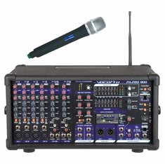 VOCOPRO PA-PRO-900 - 1 Professional P.A. Mixer (Includes the SDR-3 SD card Recorder and one UHF mic and Module)