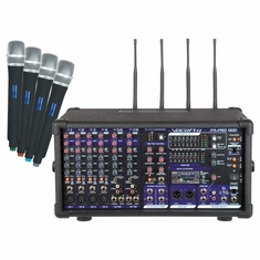 VOCOPRO PA-PRO-900 - 2 Professional P.A. Mixer (Includes the SDR-3 SD card Recorder and all four UHF Mics and Modules)