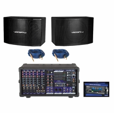 VOCOPRO PA-PRO UNO Professional P.A. Mixer Package (includes SDR-3 SD card recoder, SV-600, 2 BPH-30 cables)