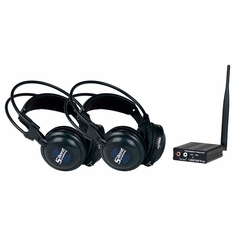 VOCOPRO SilentSymphony-Duo Wireless Audio Broadcast and Headphone system with one Transitter and Two Headphones