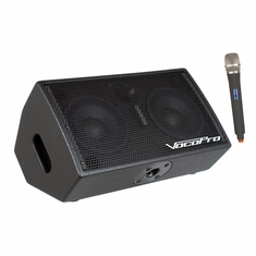 VOCOPRO STAGE-MAN 1 200W 3-Channel Active Vocal Monitor with DSP Effects and SD Recorder/includes one wireless mic and module