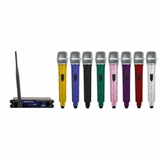 VOCOPRO UHF-18 DIAMOND - Q (EMERALD) Single Channel UHF Wireless Crystal Encrusted Microphone System