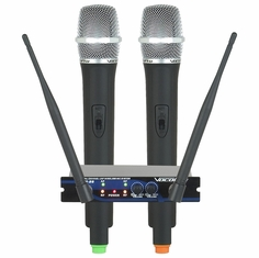 VOCOPRO UHF-28-7 (Q,R) Freq Q 676.74 and R 614.15 Dual Channel UHF- Wireless Microphone System
