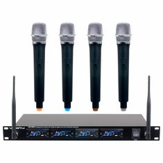 VOCOPRO UHF-5816-T2 UProFessional four channel UHF Wireless Mic System with 16 PLL switchable Freq