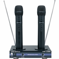 VOCOPRO VHF-3300 2 Channel VHF Rechargeable Wireless Microphone System