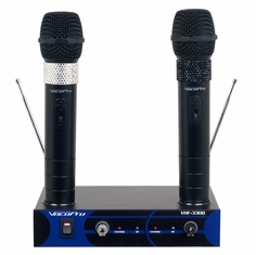 VOCOPRO VHF-3308 -4  4 Channel VHF Rechargeable Wireless Microphone System