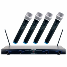 VOCOPRO VHF-4000-1 Professional Quad VHF Wireless Microphones System