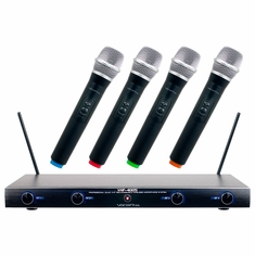 VOCOPRO VHF-4005-2 VHF RECHARGEABLE WIRELESS MICROPHONE SYSTEM