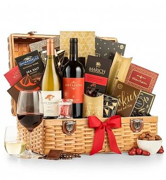Country Estate Wine & Chocolates Gift Basket