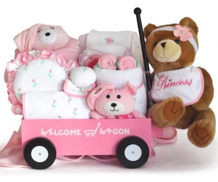 Deluxe Welcome Wagon Baby Gift (Boy or Girl)