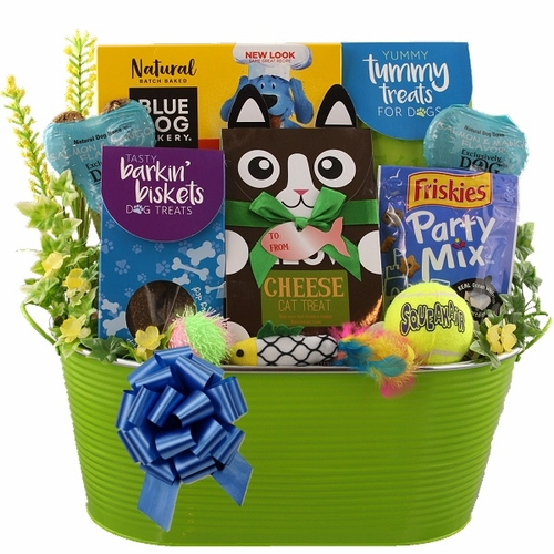 Dog and Cat Gift Basket
