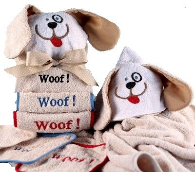 Doggie Hooded Towel for Kids