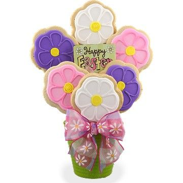 Easter Blooms Cookie Bouquet