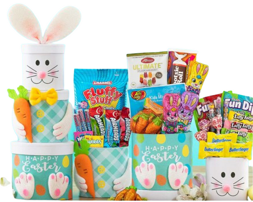 Easter Bunny Gift Tower