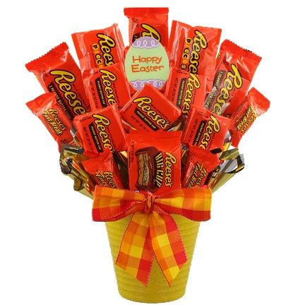 Easter Reese's Candy Bouquet