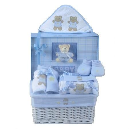Forever Baby Book and Layette Baby Gift Basket (Girl or Boy)